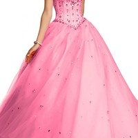 Angel Bridal Ball Gowns Quinceanera Evening Dresses Tulle Prom Gowns Long