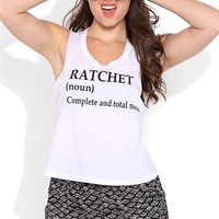 Deep Armhole Tank Top with Ratchet Definition Screen