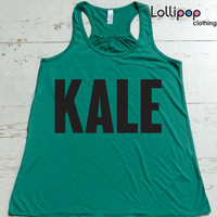 Kale  Workout tank .Fitness Running Tank Top.Women's Crossfit  Exercise tank. Running Top. Boot Camp top. Funny . Sexy. Fitness Motivation