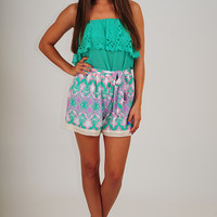 Storybook Ending Top: Tropical Green