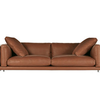 "Como 92"" Sofa in Leather"