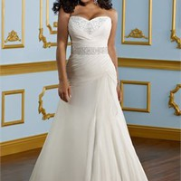 A-line white Strapless Sexy sweetheart 2012 Plus Size Wedding Dresses WDPS079 - cheap price 2012 online shop for sale.