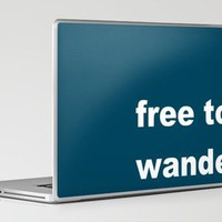Free To Wander, blue Laptop & iPad Skin by Romi Vega | Society6