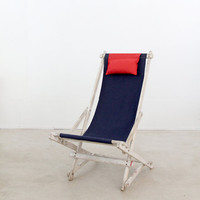 SALE vintage deck chair / nautical beach chair