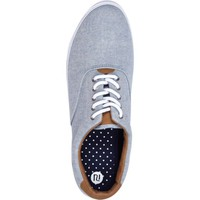 Light blue chambray lace up plimsolls - plimsolls - shoes / boots - men