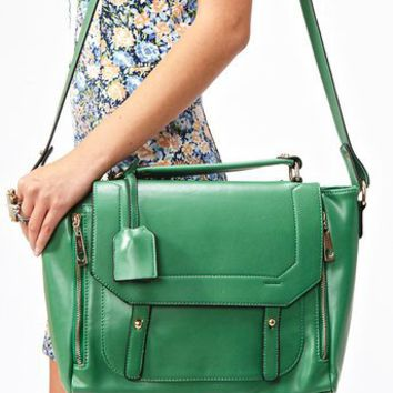 Blair Messenger Bag - Green in What's New at Nasty Gal