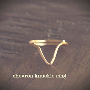 #Chevron #Knuckle #Ring, #Midi Ring, Copper, Rose Gold, Gold, Silver, 14K Gold Filled, Adjustable, Hammered, Handmade