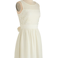 ModCloth Mid-length Sleeveless A-line Simple Ceremony Dress