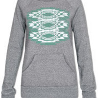 tribal fleece pullover