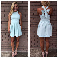 Pale Mint Cross Bow Dress
