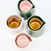 Terttulla Ceramics Golden Nesting Pitchers | LEIF