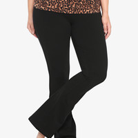 Fold-Over Boot Cut Yoga Pant