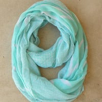Mint Zig Zag Loop Scarf [4574] - $10.00 : Vintage Inspired Clothing & Affordable Dresses, deloom | Modern. Vintage. Crafted.