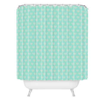 Allyson Johnson Blue Hearts Shower Curtain