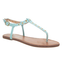 Studded T-Strap Sandal | Wet Seal
