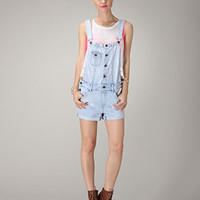 Light Denim Button Up Overalls