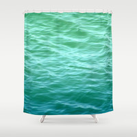 Teal Sea Shower Curtain by Lisa Argyropoulos | Society6