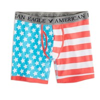 AEO Men's Flag Athletic Trunk (Blue)