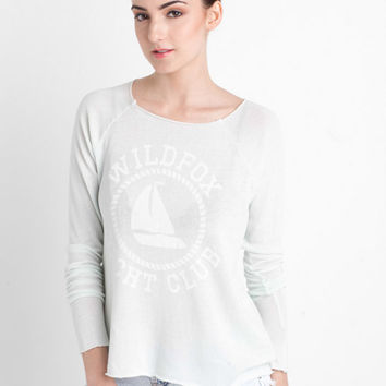 Sail On Cozy Raglan in Sea Mist by WILDFOX at TAGS