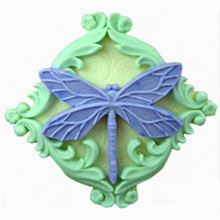 Dragonfly Flexible Silicone Mold/Mould For Handmade by HappyDIY