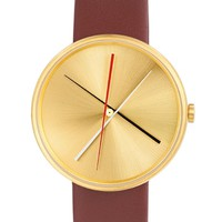 Crossover Watch in Brass by Projects Design