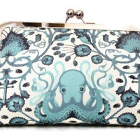 Octopus Clutch Destination or Beach Wedding Handmade for Bridesmaids  wedding clutch