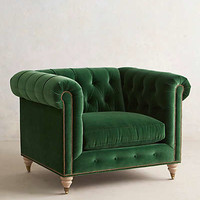 Lyre Chesterfield Armchair