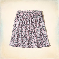 Hollister Printed Skater Skirt