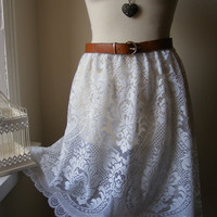 Jennifer Lilly Handmade White Lace Vintage by jenniferlillydesigns