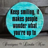 EXCLUSIVE to my Shop Keep smiling it by DesignsbyLindaNeeToo