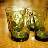 60s Green Madmen Tumblers by StrangerThanVintage on Etsy