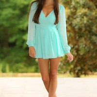 Strutting Down The Boardwalk Romper-Sky Blue