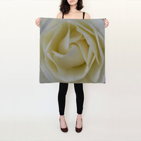 Rose Silk Scarf by JUSTART (Square Scarf (26