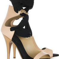 Vionnet | Leather and silk ribbon sandals | NET-A-PORTER.COM