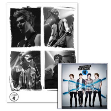 5 Seconds Of Summer Standard CD + Lithograph Bundle
