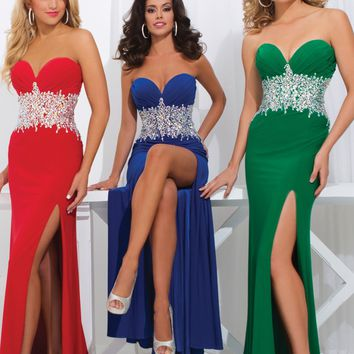 Tony Bowls Paris 114709 Strapless Jersey Gown