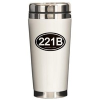 221b oval Travel Mug by bakerstreet221- 403198086