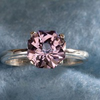 Amethyst Rose Petal Cut Engagement Ring by by janeysjewels
