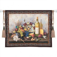 Fine Art Tapestries Italian Still Life Tapestry - Barbara R. Felisky - 3196-WH - All Wall Art - Wall Art & Coverings - Decor