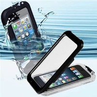 CyberTech 25ft Waterproof Shockproof Dirt Proof Sand Proof Silicon Touch Screen Case for iPhone 5C (Black)