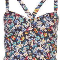 Floral Latino Suntop - Tops - Clothing - Topshop