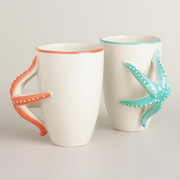 Starfish Mugs, Set of 2 - World Market
