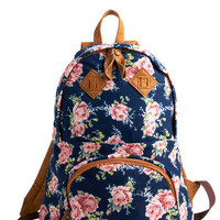 Biking Beauty Backpack in Rosy | Mod Retro Vintage Bags | ModCloth.com