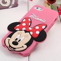 3D Disney Cartoon Big Face Silicone Soft Back Full Case Cover For iPhone 5 5S 5C
