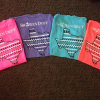 Southern Drift Comfort Color  Tank TEXAS
