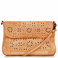 LEATHER DAISY CROSSBODY BAG