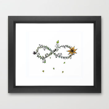 Nature's Infinite Framed Art Print by DuckyB (Brandi)