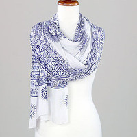 Prayer Shawl, White/Black | Clothing and Accessories | Accessories | World Market