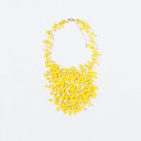 ETHNIC STYLE CRYSTAL BEAD NECKLACE