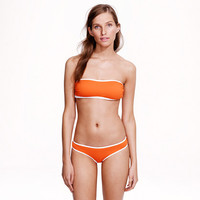 Italian matte tipped bandeau top - swim - Women - J.Crew